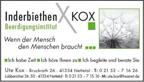 Beerdigungsinstitut Inderbiethen Kox